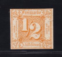 Ziffer ½ Sgr., *, Ca. 5 Mm Einschnitt, Gepr. Dr. Reum - Tour Et Taxis