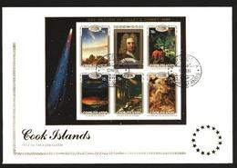 COOK IS 1986 Halley's Comet Souvenir Sheet Commem FDC.........90338 - Cook Islands