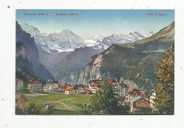 Cp , SUISSE , BE , WENGEN , Grosshorn , Breithorn , Vierge , Ed. Schild-Bichsel - BE Berne