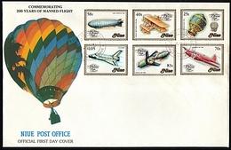 NIUE 1983 Manned Flight Commem FDC........18264 - Niue