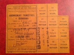 SNCF Bourg PLM Juin 1940 Trimestriel Seyssel Corbonod Via Amberieu - Europa