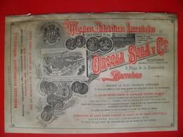 PUB 1892 - Capsules Métal à Arceuil 94; Carrelage à Pont Ste -Maxence; Et Barcelona - Advertising