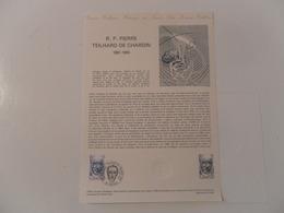 FRANCE DOCUMENT 19-81 YT 2152 R.P. PIERRE TEILHARD DE CHARDIN - Documents Of Postal Services