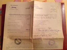 Lyon Cheques Postaux Tresorier Payeur General 1942 Berthet Bondet - Gebührenstempel, Impoststempel