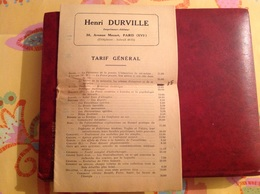 Tarif Général Des éditions Henri Durville Paris (11pages) - Seals Of Generality