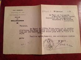 État Français Mairie De Bellegarde 1945 - Seals Of Generality