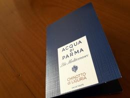 Echantillon Sur Carte :ACQUA DI PARMA *Blu Méditerranéo* - Cartes Parfumées