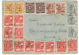 1650 - 21 Timbres - Amerikaanse-en Britse Zone