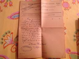 Impot Recette De Frangy 1937 Cachet Berthet Bondet - Gebührenstempel, Impoststempel