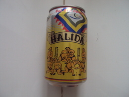 Vietnam Viet Nam 330ml Empty Beer Can : Halida New Year 2004 / Opened By 2 Holes At Bottom - Cans