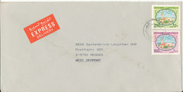 Kuwait Express Cover Sent To Germany 1987 - Kuwait
