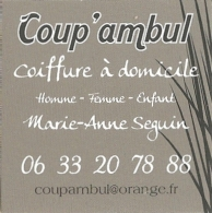 Carte De Visite - Coup'ambul - Coiffure à Domicile - Homme - Femme - Enfant - [coiffeur - Oleron] - Cartoncini Da Visita