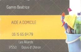 Carte De Visite - Aide à Domicile - Gamin Béatrice - Dolus D'Oleron - Cartoncini Da Visita