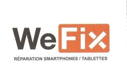 Carte De Visite - WeFix - Réparation Smartphones / Tablettes - La Couronne (16) - Cartoncini Da Visita