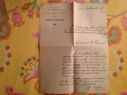 Cachet Mairie De Chene En Semine Arrdt St Julien 1937 - Gebührenstempel, Impoststempel