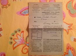 Ochiaz Bellegarde Sommation Berthet Bondet 1937 - Gebührenstempel, Impoststempel