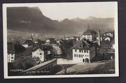 CPA SUISSE - VALLORBE - Vallorbe Et La Dent De Vaulion - TB PLAN CENTRE VILLAGE - TB Détails Maisons - VD Vaud