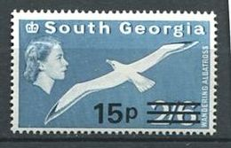 223 SUD GEORGIE 1971 - Yvert 36 Surcharge - Oiseau Albatros - Neuf **(MNH) Sans Charniere - South Georgia