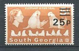 223 SUD GEORGIE 1971 - Yvert 37 Surcharge - Phoque - Neuf **(MNH) Sans Charniere - South Georgia