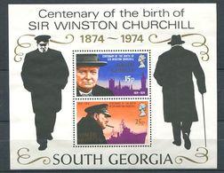 223 SUD GEORGIE 1974 - Yvert BF 1 - Churchill - Neuf **(MNH) Sans Charniere - South Georgia