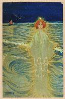 ILL451 Rare Postkarte Raphaël KIRCHNER Série NOEL 197 N°3 DAME Des FLOTS étoile BETHLEEM 1902 à GAYREL Gaillac - Kirchner, Raphael