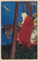 ILL450 Rare Postkarte Raphaël KIRCHNER Série NOEL BALTHAZAR Et GASPARD Rois MAGES étoile BETHLEEM 1902 à GAYREL Gaillac - Kirchner, Raphael