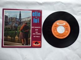 EP 45 T ELLE ET LUI   LABEL POLYDOR 27056 NOS VACANCES - Disco & Pop