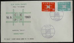 TÜRKEI 1963 Mi-Nr. 1888/89 CEPT FDC - Europa-CEPT