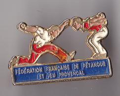 PIN'S  THEME SPORT PETANQUE  FEDERATION FRANCAISE DE PETANQUE - Bowls - Pétanque