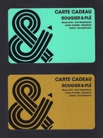 2 Carte Cadeau.   Gift Card.   ROUGIER & PLE - Gift Cards
