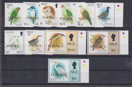 N69. MNH Niue Nature Animals Birds Overprint - Oiseaux