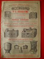 PUB 1892 - Fourneaux De Cuisine Nantes 44; Galvanisation à Onnaing 59; Hamacs Sièges à Fécamp 76 - Publicités