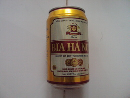 Vietnam Viet Nam 330ml Empty Beer Can : Hanoi New Year 2011 / Opened By 2 Holes At Bottom - Cans