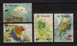 St. Vincent 1989, Birds, Parrots, WWF, Complete Set, MNH. - St.Vincent (1979-...)