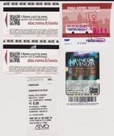 Lot De 6 Tickets Transports Avril 2018 : Rome Et Venise Liaison Aéroport Et Transports Y Compris Vaporetto - Transportation Tickets