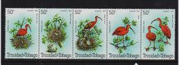 Trinidad 1980, Birds In Strip, Complete Set, MNH. Cv 8 Euro - Trindad & Tobago (1962-...)