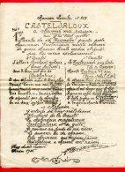 DOCUMENT A4  (Réf C216) (VIEUX PAPIERS ) CHANSON LOCALE N° 169 CASTELJALOUX - Vieux Papiers