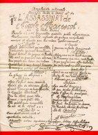 DOCUMENT A4  (Réf C217) (VIEUX PAPIERS ) COMPLAINTE MORALE L'ASSASSINAT DE NICOLE MARESCOT AIR DE VALSE BRUNE - Vieux Papiers