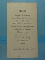 Lot De 4 Menus 1 De Budenghien, 1 Sur Le Thème De La Chasse,... - Menükarten
