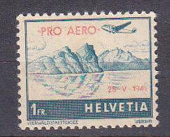 PGL BC051 - SUISSE SWITZERLAND AERIENNE Yv N°34A ** - Poste Aérienne