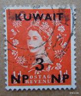 KUWAIT 1957. 3 Np On 1/2d, Orange, Queen Elisabeth II, Type: 154. SG121. Used. - Kuwait