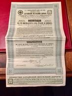 Cie  Du  Chemin  De  Fer  De  L' ALTAÏ  ------   Obligations  De  187,50 Roubles - Russia