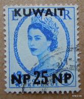 KUWAIT 1957. 25np On 4d, Blue, Queen Elisabeth II, Type: 155. SG127. Used. - Kuwait
