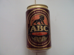 Cambodia ABC Stout 330ml Empty Beer Can / Opened By 2 Holes At Bottom / 3 Photo - Cans