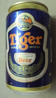 Vietnam Tiger Beer Empty 330ml Can - Old Design / Opened At Bottom / 03 Photo - Cannettes
