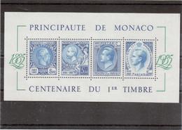 Clm 10 - MONACO BF 33 ** ( MNH ) De 1985 - Centenaire Du Premier Timbre. - Monaco
