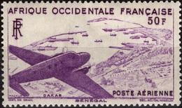 AOF AFRIQUE OCCIDENTALE FRANCAISE Poste Aérienne 12 ** MNH Avion Survolant Dakar Aviation Plane - A.O.F. (1934-1959)
