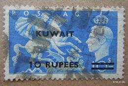 KUWAIT 1948. 10Rs. On 10s King George VI. Scott 101. Used. - Kuwait