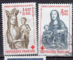 France 1983 N°2295-96 Croix Rouge  Bois Polychrome - Gebraucht