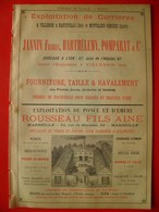 PUB 1892 - Pierre De Taille Villebois & Hauteville; Pierre-Ponce Émeri Marseille; PIPPERMINT à Revel - Advertising